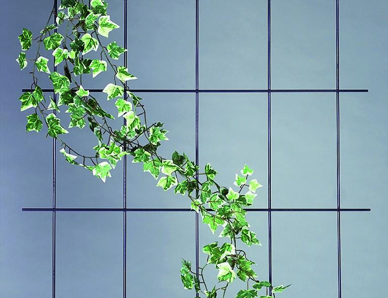 Siena Garden Wandspalier ca. 150x75cm weiß, 5-strebig, mit SB-Reiter
