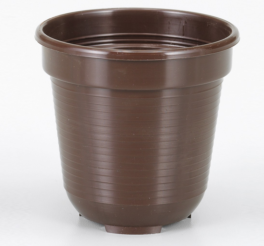 Blumentopf Standard, R x H: 18 x 15,5 cm, braun