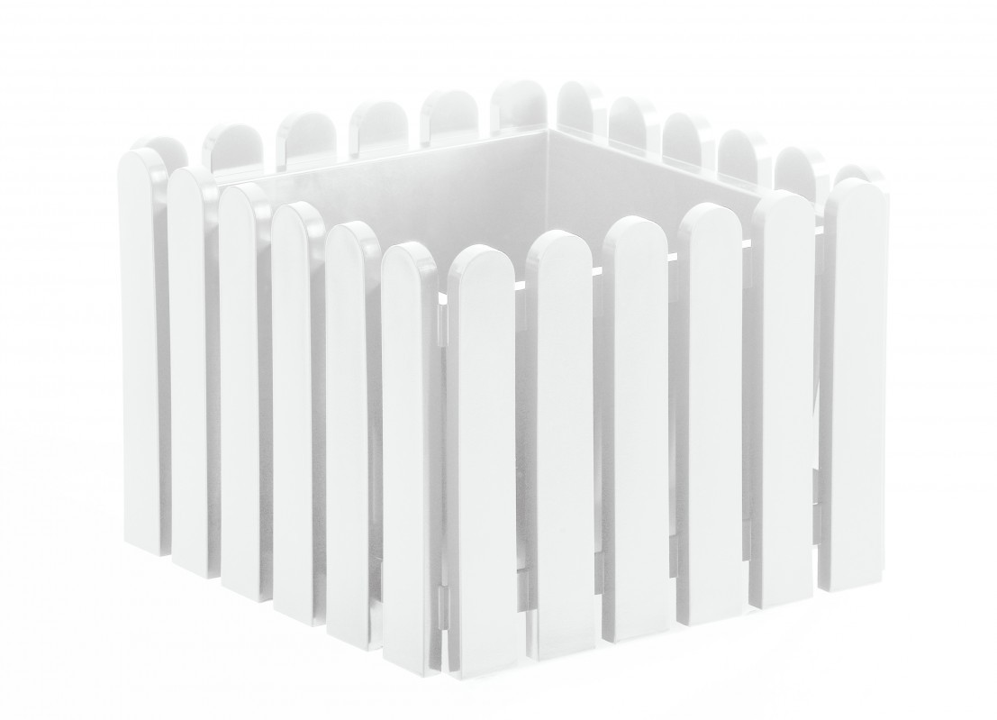 Emsa 846381200 Landhaus Blumenkübel 38 x 38 cm weiß