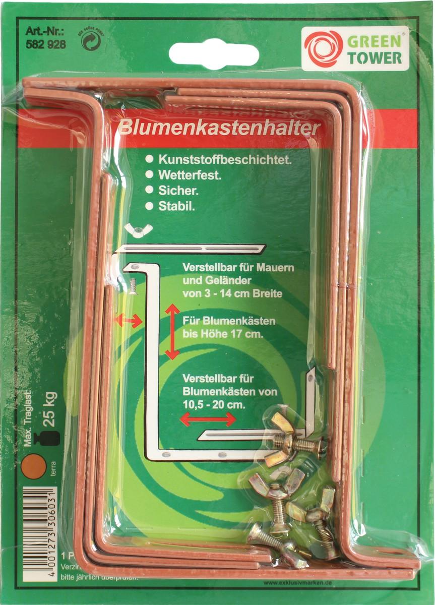 Steinbach Blumenkastenhalter, terra, bis 17 cm Kastenhöhe &amp