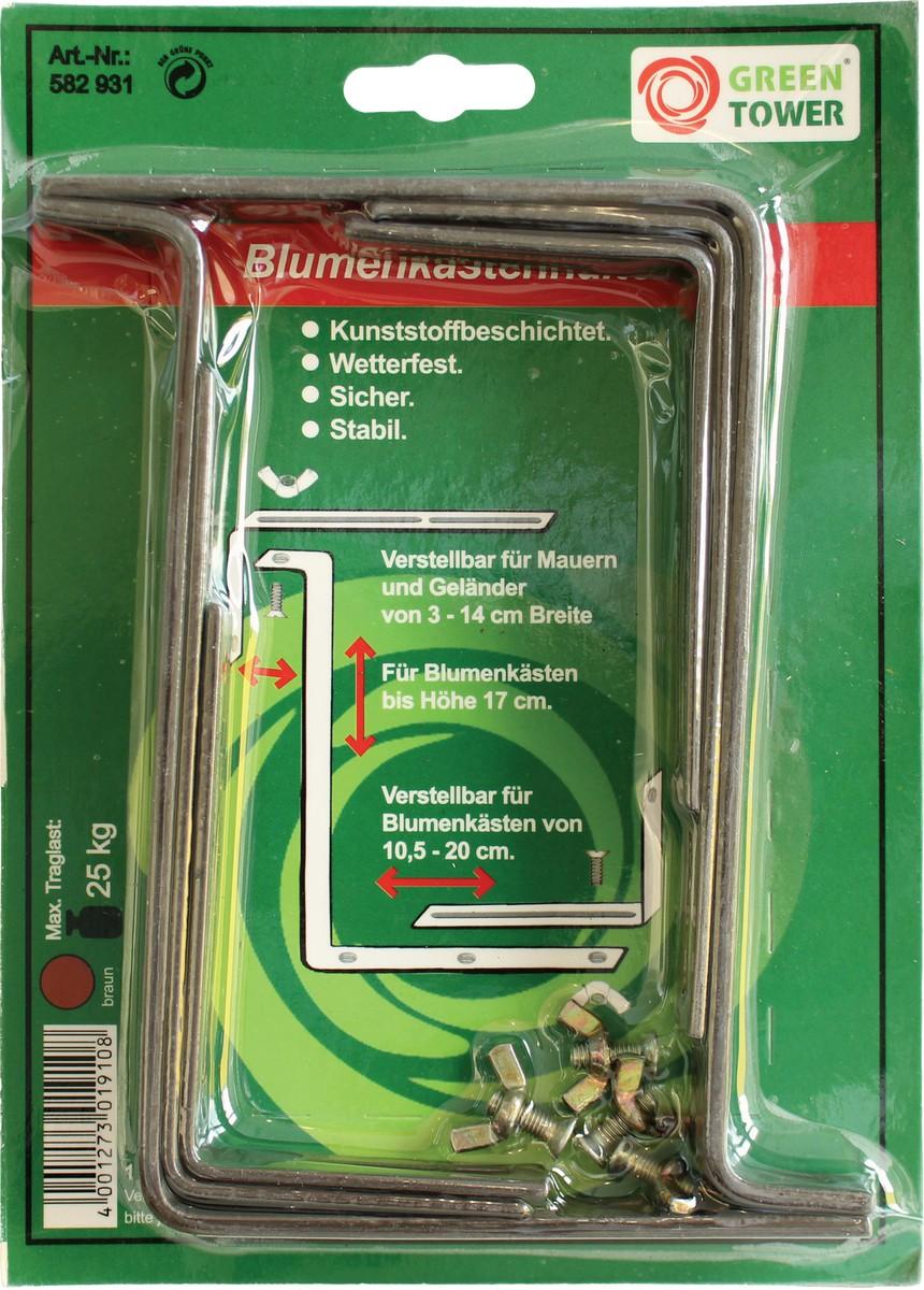 Steinbach Blumenkastenhalter, braun, bis 17 cm Kastenhöhe &amp