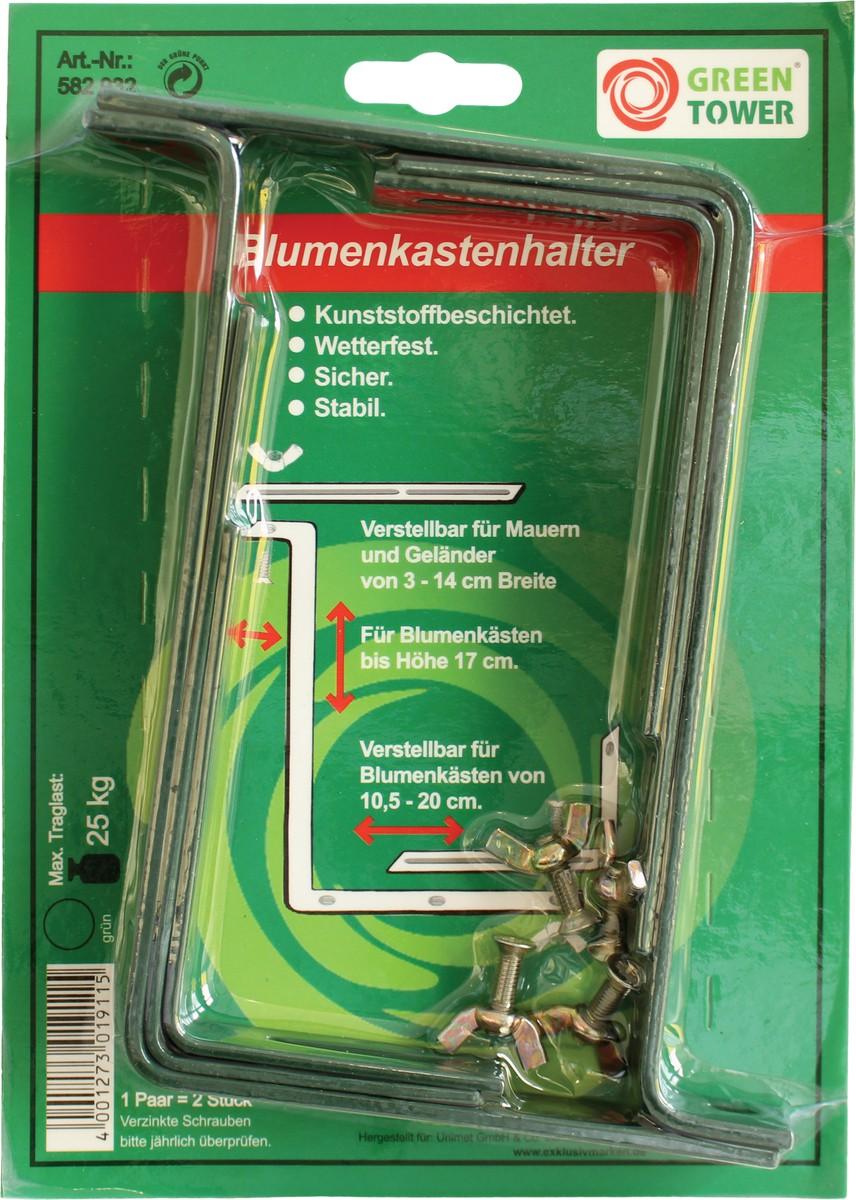 Steinbach Blumenkastenhalter, grün, bis 17 cm Kastenhöhe &amp