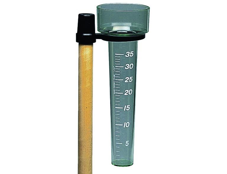 H.G. Regenmesser mit Halterung für Gerätestiel, 24mm, Kunststoff