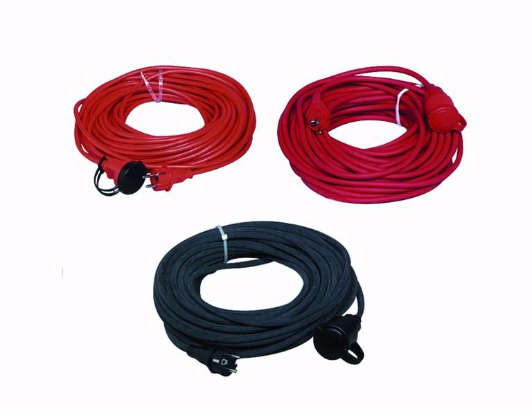 H.G. Verlängerungskabel 50m, 3x1,5mm², rot H05 VV-F 3G1,5 rot, für innen