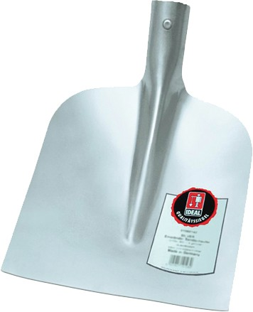 Ideal Holsteiner Sandschaufel ohne Stiel, mit 1/2 gehobener Dülle, silber pulverbeschichtet