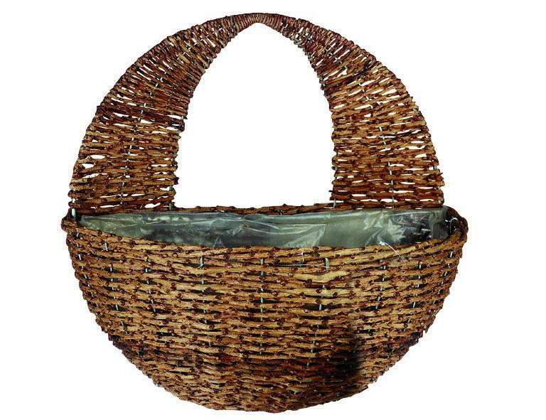 Gardman Weide-Wandampel Rustikal, Durchmesser 30 cm aus Naturmaterial