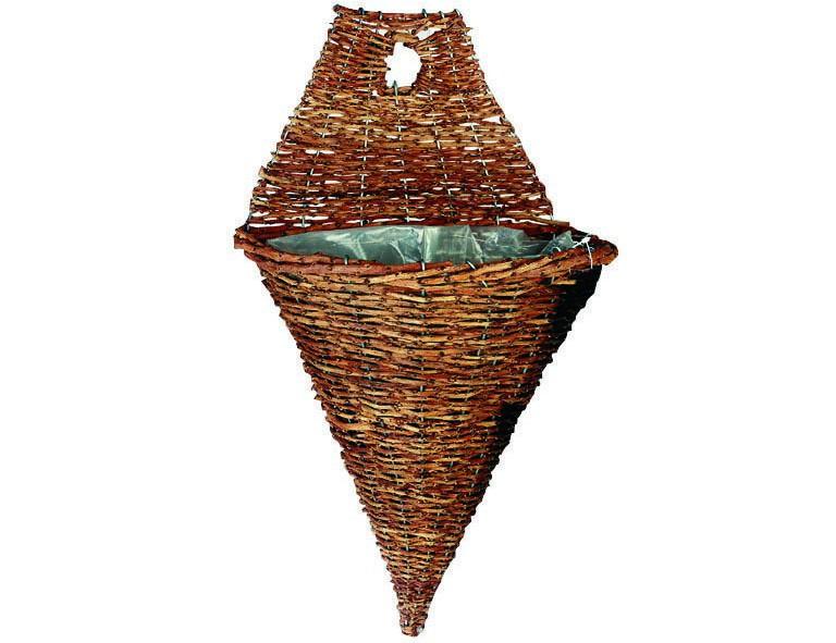 Wandampel Rustikal Vase 40 cm
