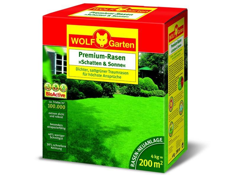WOLF-Garten Premium Rasen Schatten & Sonne für 200 qm