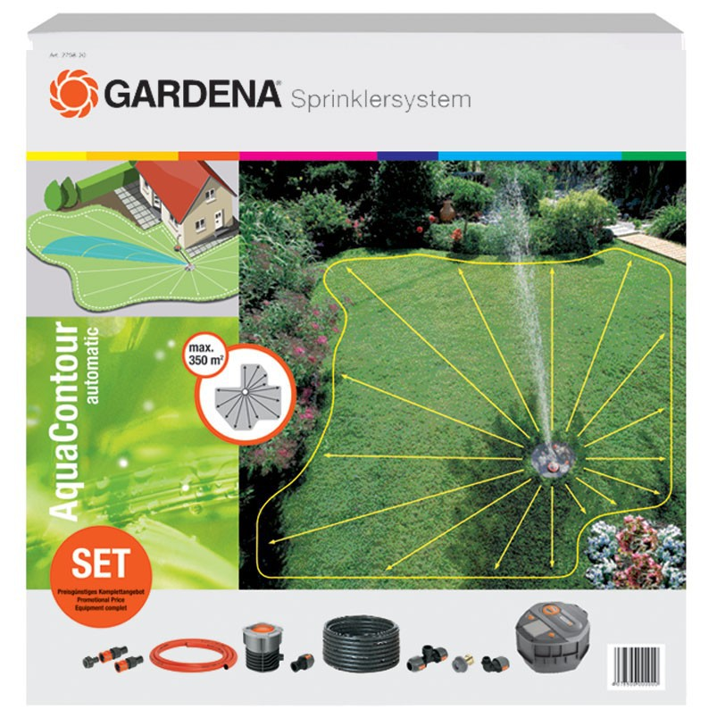 Gardena Vielflächenregner AquaContour automatic Set