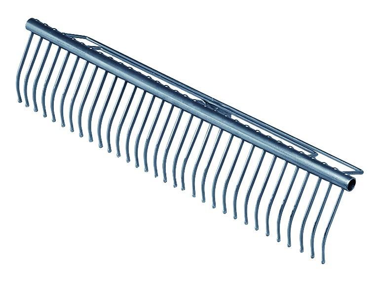 Star Rasenrechen 32 Zinken 60 cm, Hammerschlag anthrazit