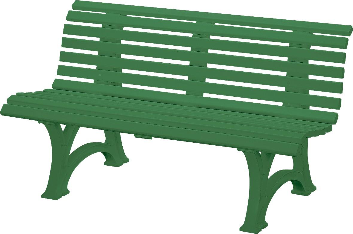 Kunststoff-Möbel Bank Neptun/ Helgoland I 150cm grün