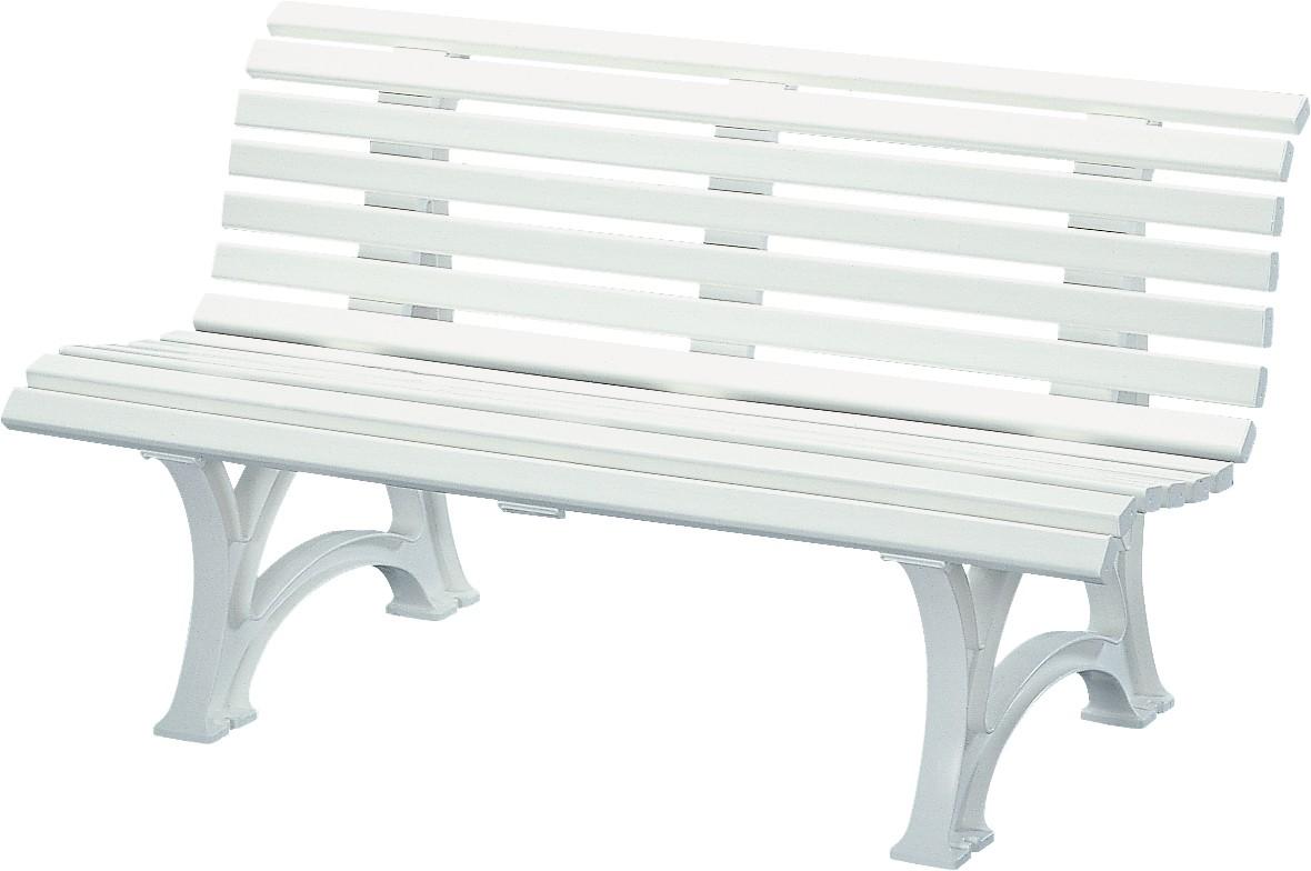 Kunststoff-Möbel Bank Neptun/ Helgoland I 150cm weiß