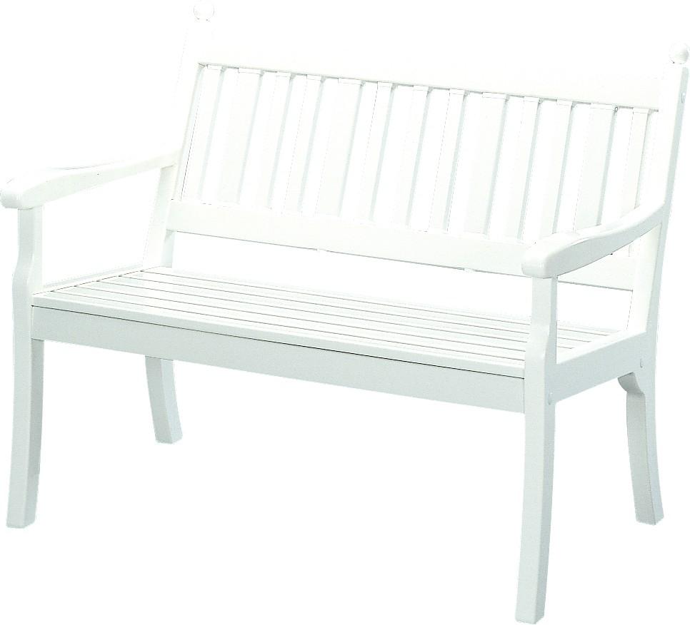 Kunststoff-Möbel Bank Hohenzollern 115cm weiß