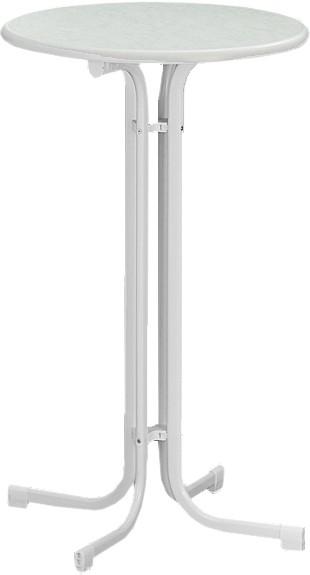 Sieger Stehtisch Dekorplatte 86cm Farbe weiß