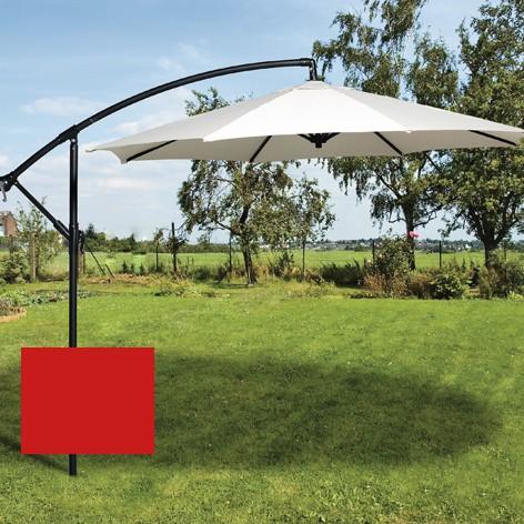 Brema Ampelschirm 300 cm mit Ständer rot, Aluminium, Bezug Polyester