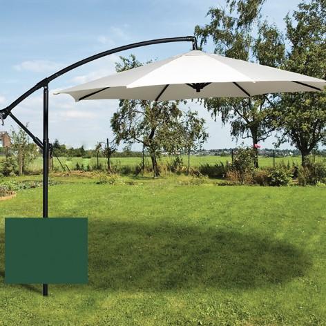 Brema Ampelschirm 300 cm mit Ständer grüne, Aluminium, Bezug Polyester