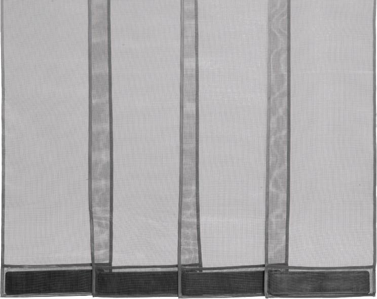 Fun Star Insektenschutz-Vorhang Moskito Fiberglas-Gewebe  220x100cm Farbe anthrazit