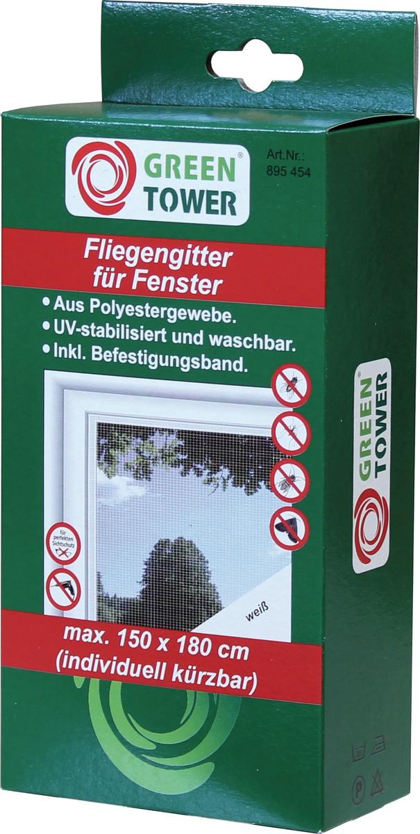 Unimet Fliegengitter f�r Fenster, wei�, 150x180 cm