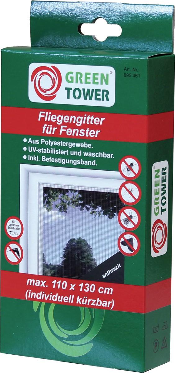 Unimet Fliegengitter für Fenster, anthrazit, 110x130 cm