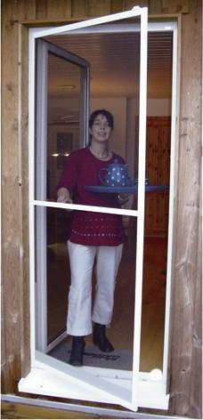 Unimet Für Türen Aluminiumstecksystem Insektenschutzfenster und -türen Breite x Höhe: 100 x 210 cm Farbe: weiß